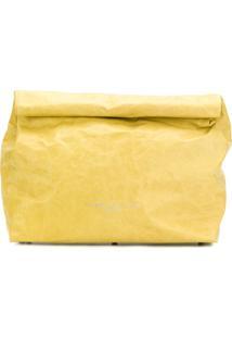 Simon Miller Clutch De Couro - Amarelo