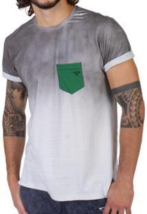 Camiseta Brohood Jet Masculina - Masculino-Branco+Cinza