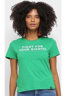 Camiseta Cavalera Fight For Your Rights Feminina - Feminino-Verde