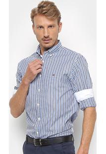 Camisa Manga Longa Tommy Hilfiger Listrada Masculina - Masculino