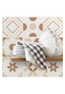 Adesivo De Azulejo 15X15 Para Cozinha Marrom Mocha 36Un