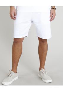 Bermuda Masculina Texturizada Branca