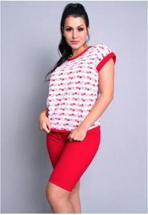 Pijama Mvb Modas Pescador - Feminino-Vermelho