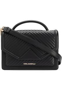 Karl Lagerfeld Bolsa Tote K/Klassik Matelassê - Preto