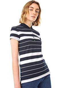 Camisa Polo Tommy Hilfiger Lammie Azul-Marinho/Branca