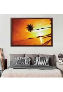 Quadro Love Decor Com Moldura Sunset Madeira Escura Médio