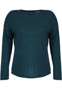 Blusa Plus Size Rovitex Premium Feminina - Feminino-Marinho