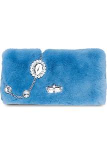Miu Miu Bolsa Iconic Com Cristais - Azul