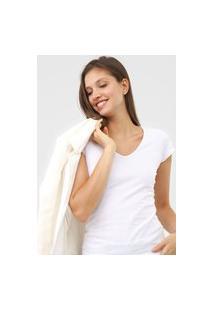 Camiseta Marialícia Lisa Branca
