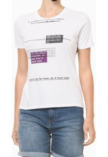 Blusa Feminina Slim Estampa Some Days Branca Calvin Klein Jeans - Pp