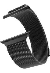 Pulseira Bestchoice Milanese Para Apple Watch 42Mm / 44Mm Preto