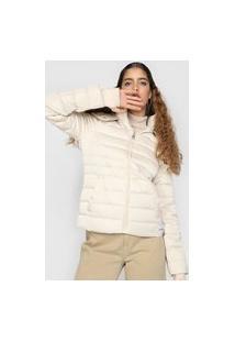 Jaqueta Puffer Calvin Klein Jeans Matelassê Off-White