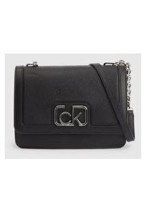 Bolsa Ck Signature Pequena Preta Calvin Klein Preto