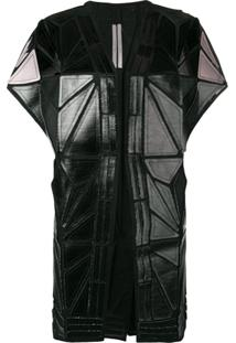 Rick Owens Whisper Geometric Paneled Jacket - Preto