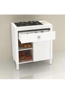 Armário De Cozinha 3 Em 1 Cooktop 4 Ou 5 Bocas Bl3303 Branco - Tecno Mobili