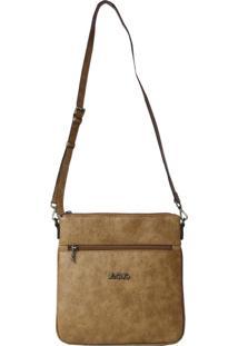 Bolsa De Couro Recuo Fashion Bag Transversal Caramelo