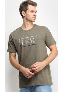 Camiseta Quiksilver Clued Up Masculina - Masculino-Verde