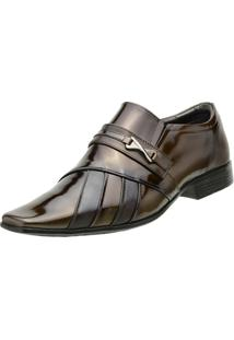 Sapato Venetto Social - Masculino-Marrom