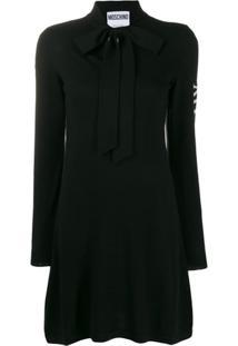 Moschino Vestido Com Detalhe De Laço - Preto