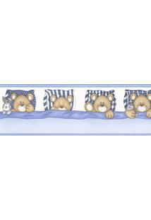 Papel De Parede Border Figuras Azul Ursos 8520 Bobinex