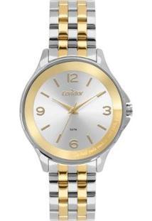 Relógio Condor Top Fashion Bicolor Co Feminino - Feminino-Dourado