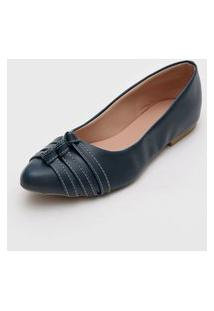 Sapatilha Dafiti Shoes Nó Azul-Marinho