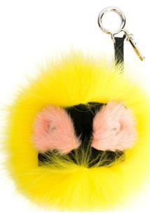 Fendi Chaveiro 'Bag Bugs' Com Pele - Amarelo