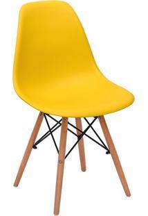Cadeira Charles Eames Wood Base Madeira - Design - Pp-638 - Inovartte - Cor Amarela