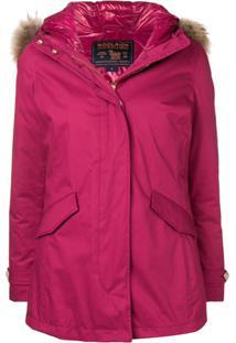 Woolrich Hooded Parka Coat - Rosa