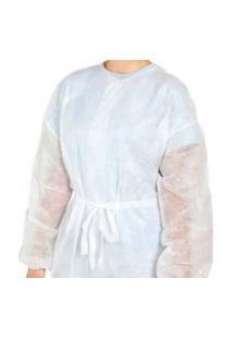 Avental Branco Manga Longa 20G C/ 10 Unid Clean