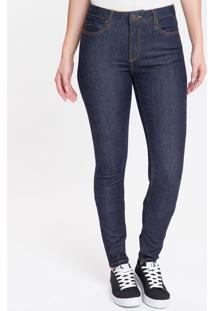 Calça Jeans Feminina Five Pockets Super Skinny Cintura Super Alta Azul Marinho Calvin Klein - 34