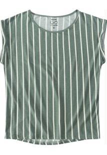 Blusa Verde Mullet Viscose Sustentável