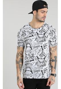 Camiseta Estampa Coringa Branca