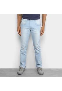 Calça Jeans Hang Loose Reefs Masculina - Masculino-Azul Claro