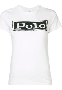 Polo Ralph Lauren Camiseta Com Paetês - Branco
