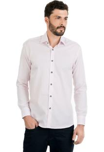 Camisa Di Sotti Dobby Rosa Claro - Masculino