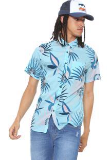 Camisa Billabong Reta Estampada Azul