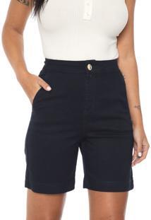 Bermuda Jeans Morena Rosa Mom Lisa Azul-Marinho