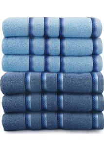 Kit Toalha De Banho 6 Peã§As Classic - Toalhas Appel - Azul Infinity/Alaska - Azul - Dafiti