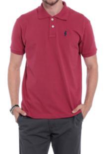 Camisa Polo Club Polo Collection Basic Bordo