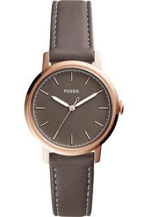 Relógio Analógico Fossil Feminino - Es4339/0Jn Marrom Escuro