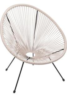 Cadeira Acapulco- Fendi & Preta- 85X69X50Cm- Or Or Design