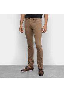 Calça Jeans Lacoste Masculina - Masculino-Marrom Claro