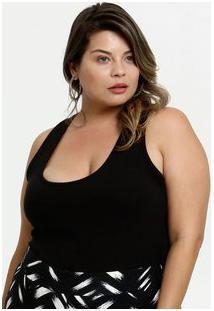 Regata Feminina Básica Nadador Plus Size Marisa