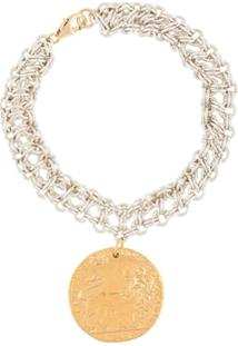 Alighieri Bracelete De Corrente Com Pingente - Dourado