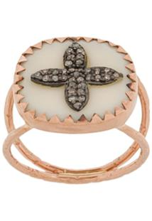 Pascale Monvoisin 9Kt Rose Gold Bowie N°2 White Diamond Ring - Branco