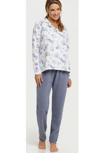 Pijama Feminino Soft Estampa Floral Marisa