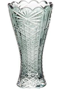 Vaso Cristal Princess Verde 8X14Cm