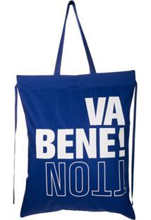 Benetton Bolsa Tote - Azul
