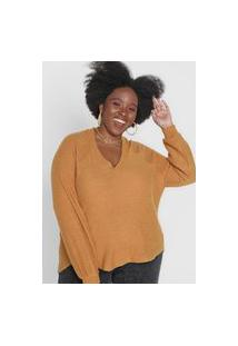 Blusa Tricot Forever 21 Plus Lisa Caramelo
